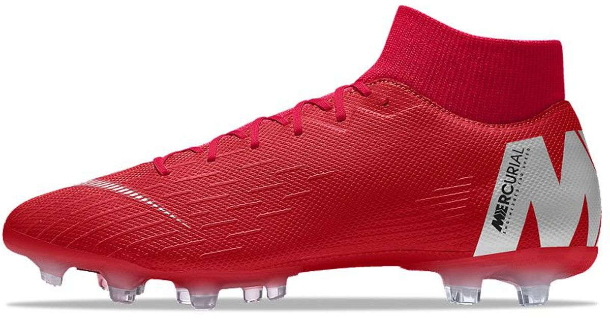 70bec3a0ad59 Lyst - Nike Mercurial Superfly Vi Academy Mg Id Multi-ground Soccer Cleats  in Red for Men