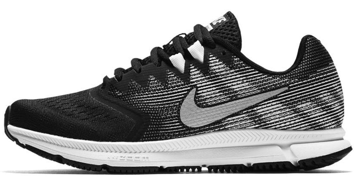 3d81c1595382 Lyst - Nike Air Zoom Span 2 Women s Running Shoe in Black