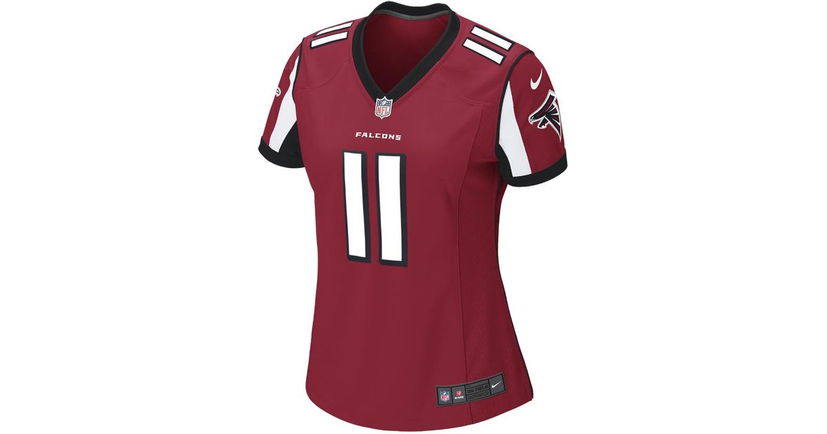 Lyst - Nike Nfl Atlanta Falcons (julio Jones) Women s Football Home Game  Jersey in Red - Save 14% bcb14fb61
