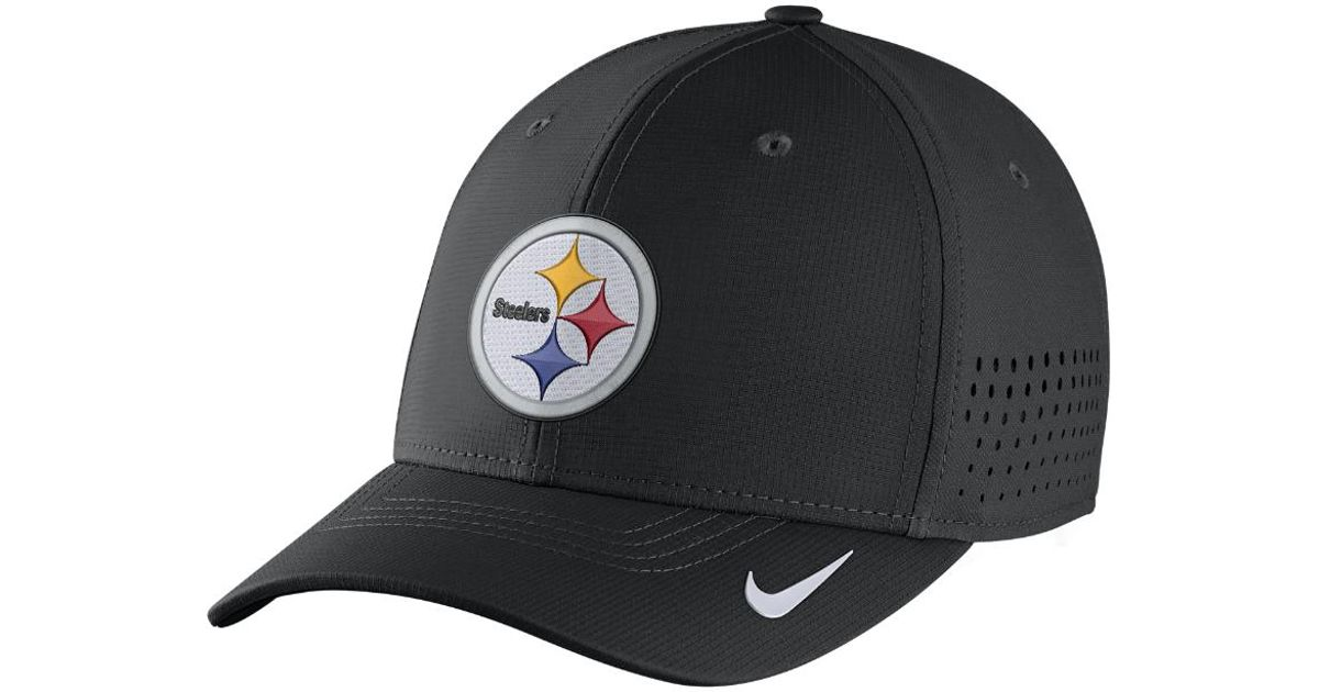 6070b25a808dac greece lyst nike swoosh flex nfl steelers fitted hat in black for men d6ea7  30cb7