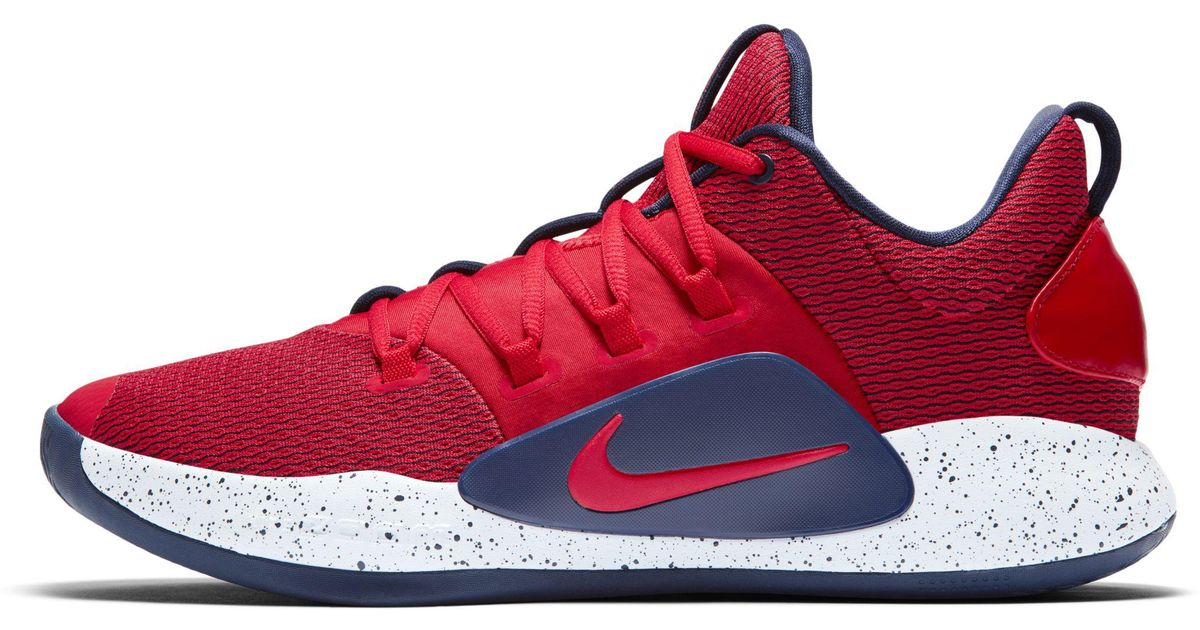 e21196bc0329 Nike Hyperdunk X Low Basketball Shoe in Red for Men - Lyst