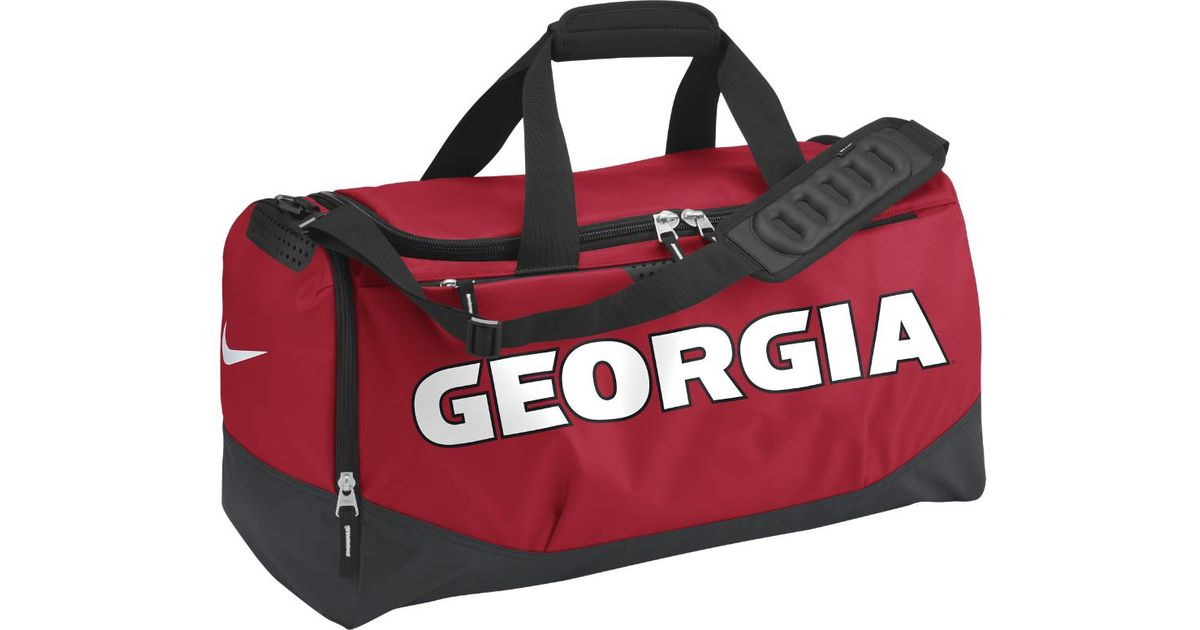 da454d8e2787 Lyst - Nike Team Training Max Air (georgia) (medium) Duffel Bag (red) in  Red for Men