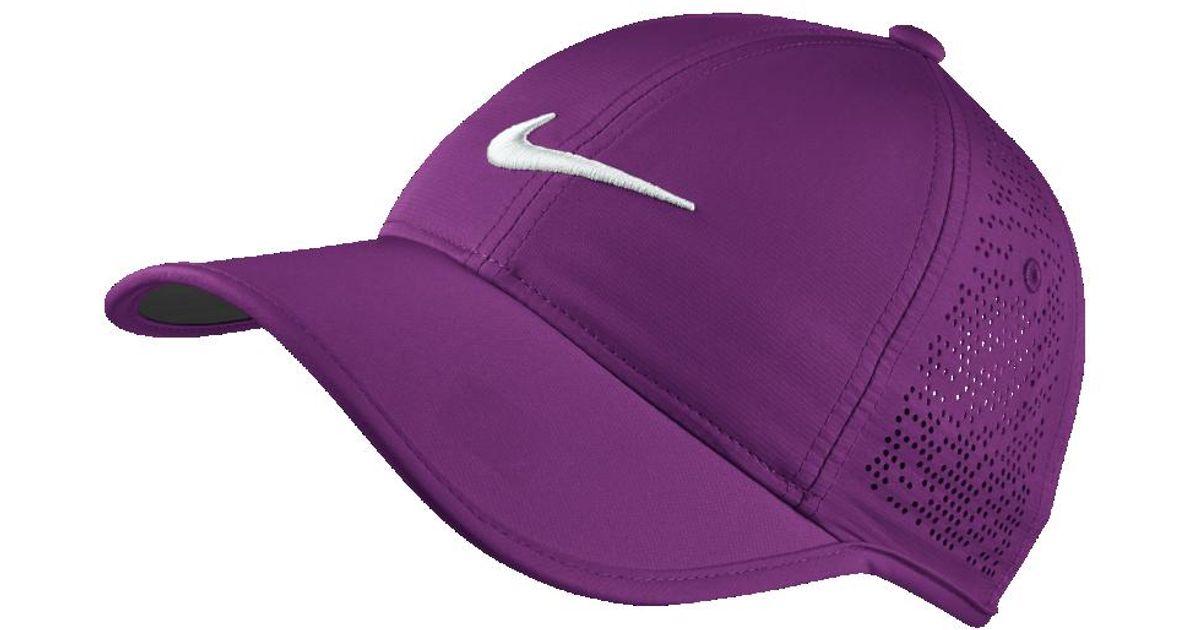 f37158aade9 Lyst - Nike Perforated Women s Adjustable Golf Hat (purple) in Purple
