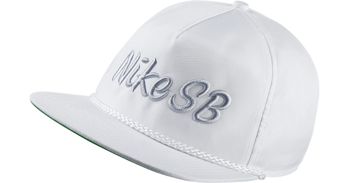 ea717c59238 Lyst - Nike Sb Unstructured Dri-fit Pro Adjustable Hat (white) in White for  Men