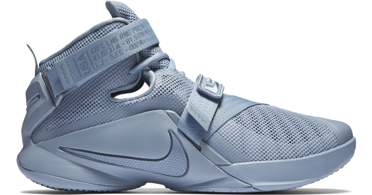 4d1b78789f4d Lyst - Nike Zoom Lebron Soldier 9 Premium Men s Basketball Shoe in Blue for  Men