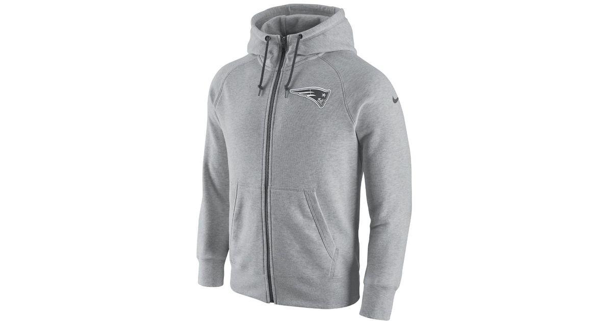79dcf1cab701 Lyst - Nike Aw77 Gridiron 2.0 Fleece Full-zip (nfl Patriots) Men s Hoodie  in Gray for Men