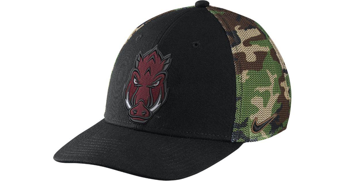 0e7497f1986 Lyst - Nike Camo Hook True Swoosh Flex (arkansas) Fitted Hat for Men