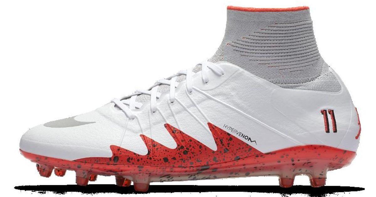 Lyst - Nike Hypervenom Phantom Ii Neymar Men s Firm-ground Soccer Cleat in  White for Men 220ed16e1
