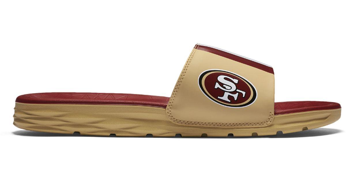 ef8b0a2ce Lyst - Nike Benassi Solarsoft (nfl 49ers) Men s Slide Sandal in Brown for  Men