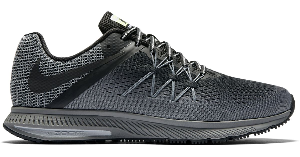 7a112ef13918 ... australia lyst nike air zoom winflo 3 shield mens running shoe in gray  for men db0a4