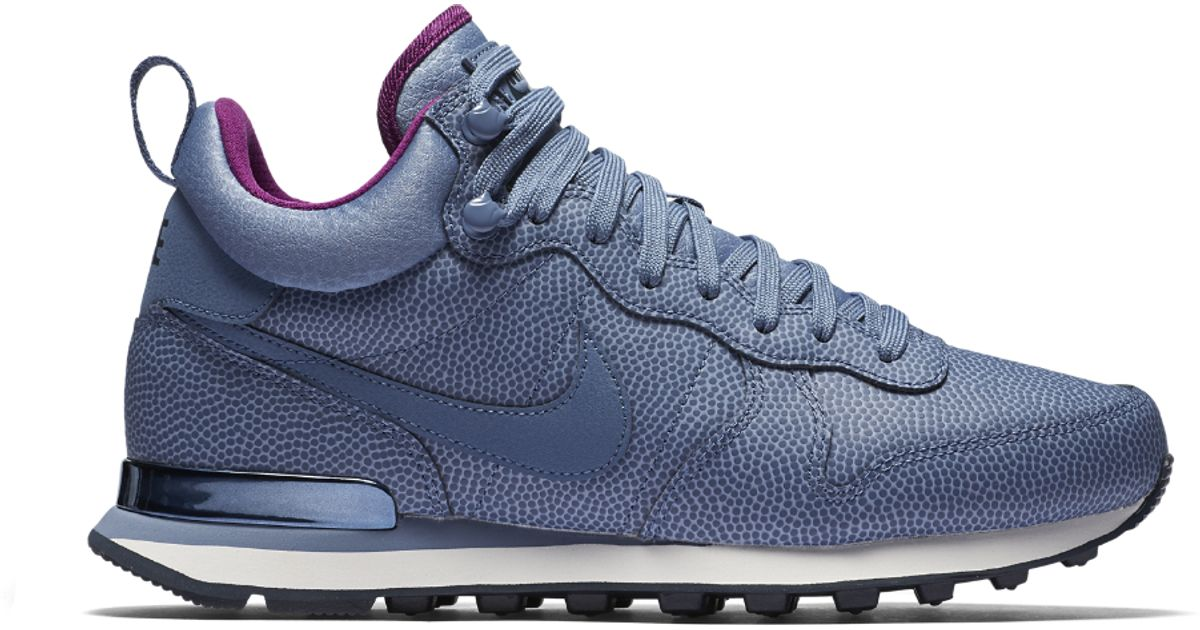 more photos 5791e 92e95 Lyst - Nike Internationalist Mid Leather Women s Shoe in Blue