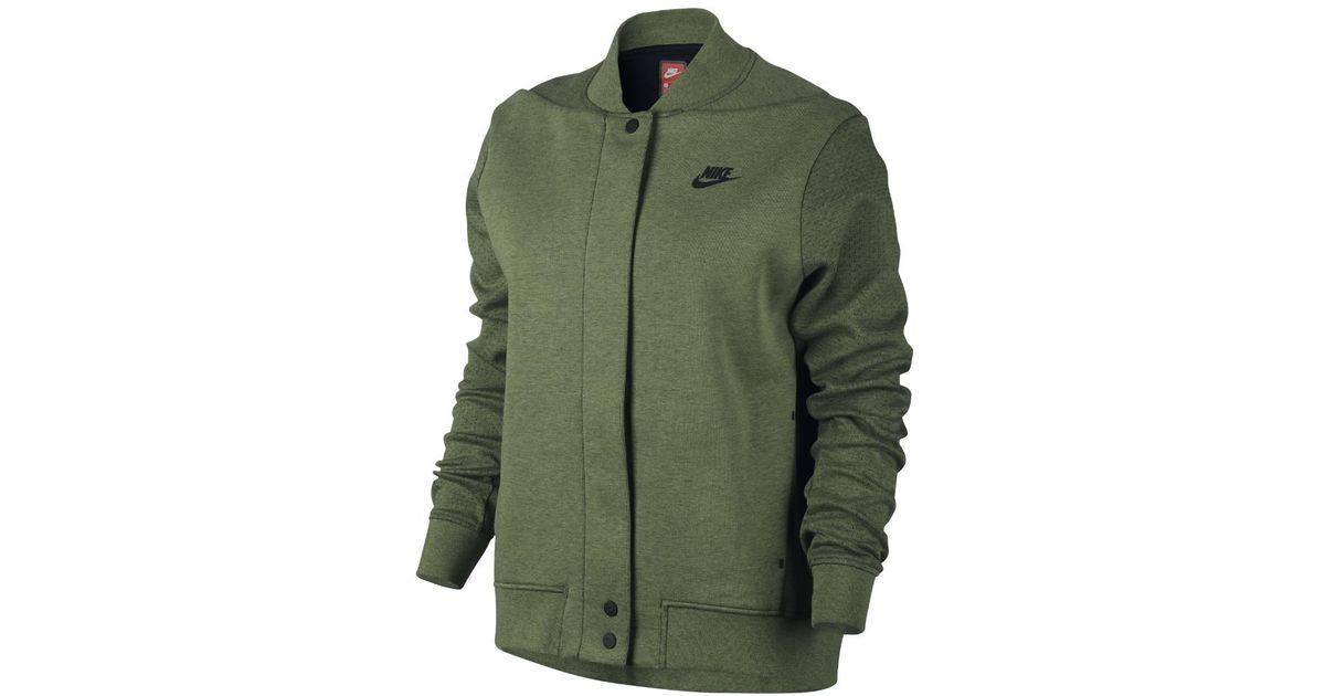 fe23cf1f93fe Lyst - Nike Tech Fleece Destroyer Women s Jacket in Green