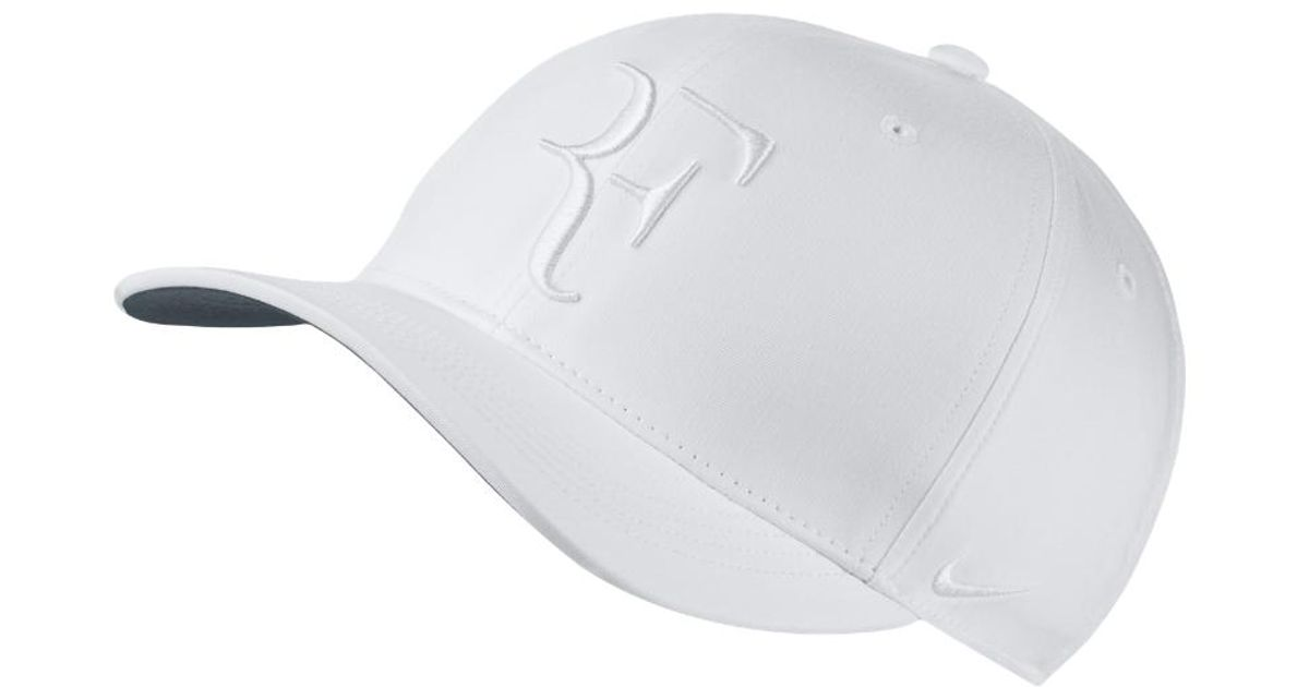 Lyst - Nike Court Aerobill Roger Federer Adjustable Tennis Hat (white) in  White for Men 1d771a2bd31