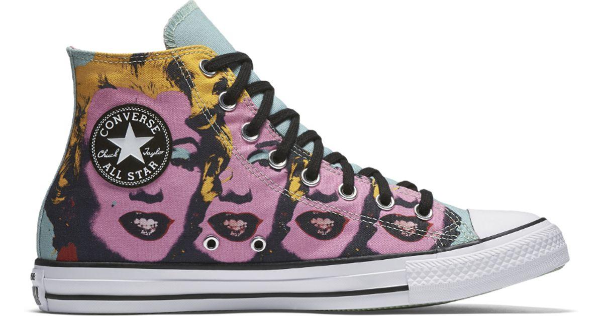 3eeffe76f5e6 Lyst - Converse Chuck Taylor All Star Andy Warhol Marilyn Monroe High Top  Shoe