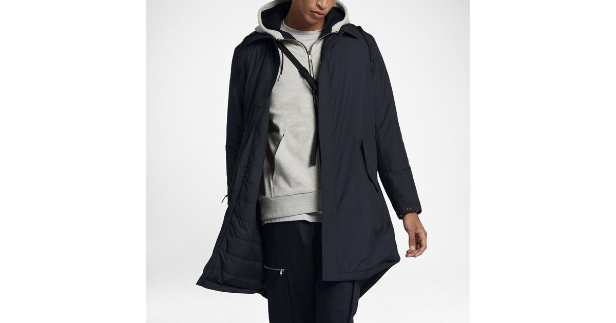 ad5082921fae Lyst - Nike Lab Essentials Men s Insulated Parka in Black for Men