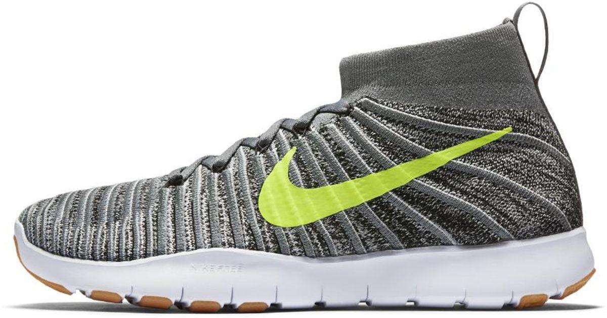 Lyst - Nike Free Train Force Flyknit Men s Training Shoe in Gray for Men b99d4db96