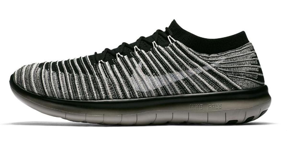be328c6b7c346 Lyst - Nike Free Rn Motion Flyknit Men s Running Shoe in Gray for Men