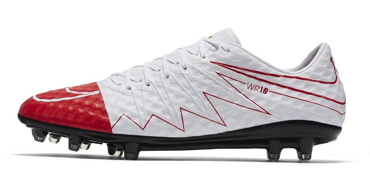 reputable site e5b05 6b872 Nike - White Hypervenom Phinish Wr250 Se Men's Firm-ground Soccer Cleat for  Men - Lyst