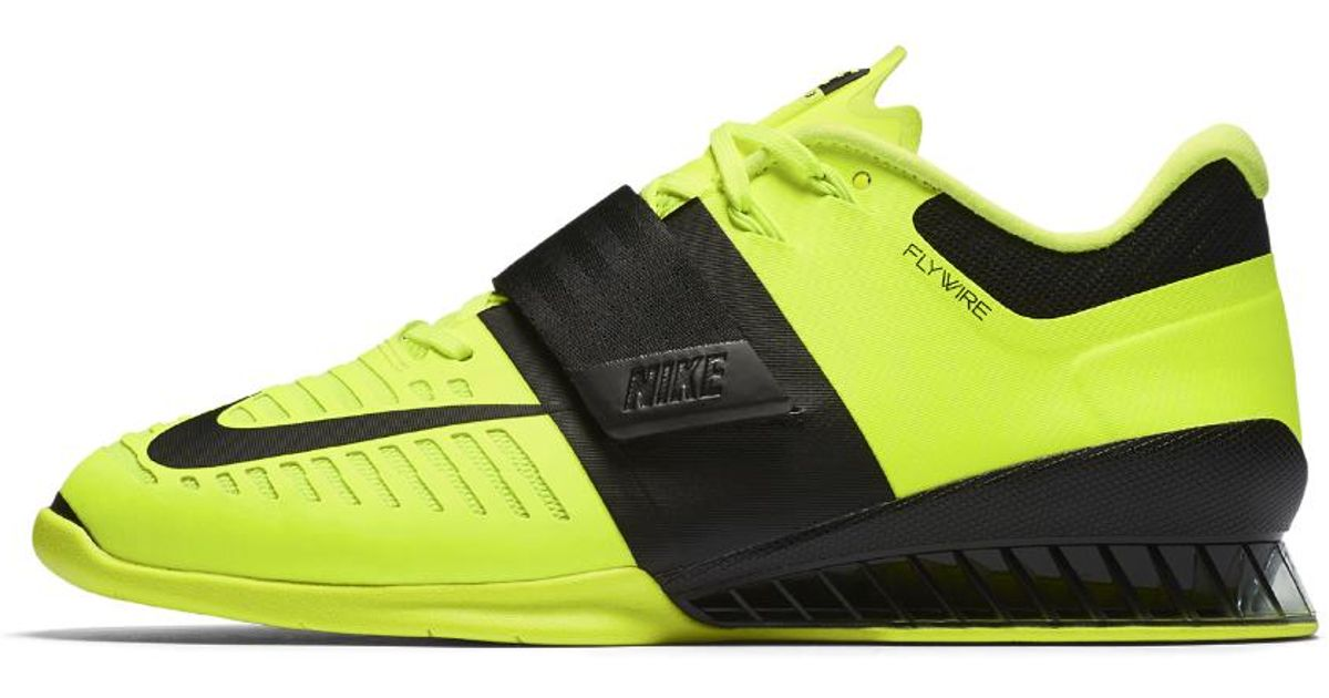 Nike Romaleos 3 Men S Weightlifting Shoe In Yellow For Men