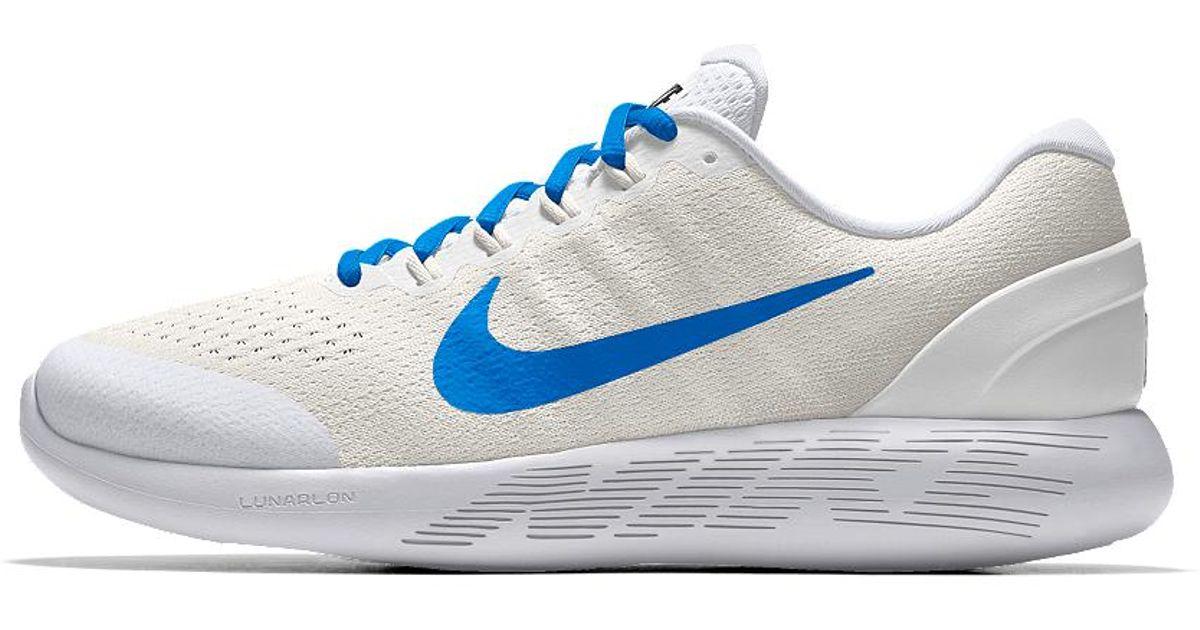 d6e6fa2e66839 Lyst - Nike Lunarglide 9 Id Women s Running Shoe in White