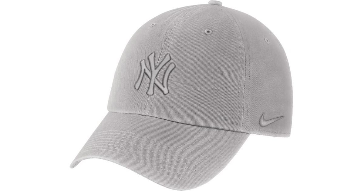278d4bf672f Lyst - Nike Heritage 86 (mlb Yankees) Adjustable Hat (grey) in Gray for Men