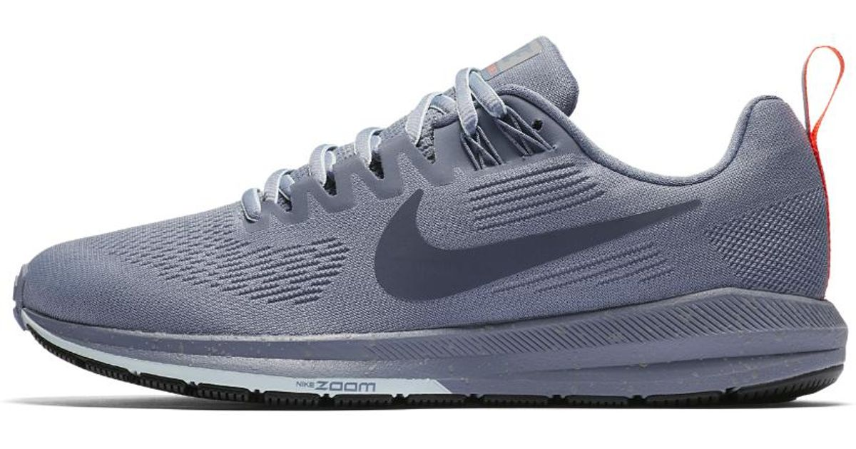 635e2dc8e035 Lyst - Nike Air Zoom Structure 21 Shield Women s Running Shoe in Blue