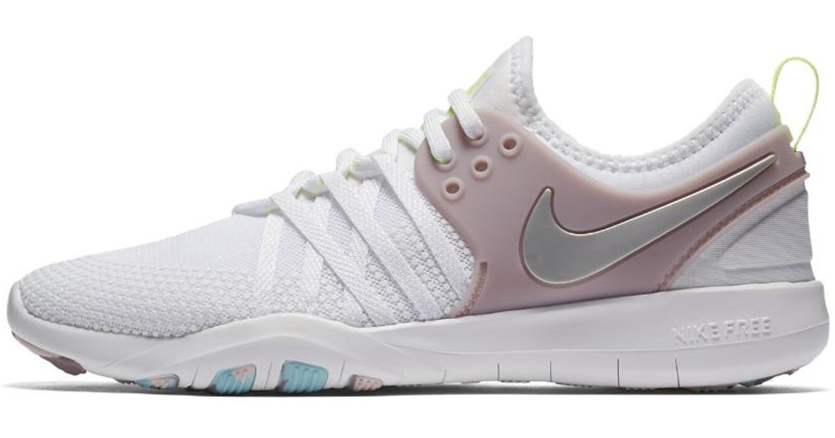 6a09e41b75690 Lyst - Nike Free Tr7 Women s Training Shoe in White