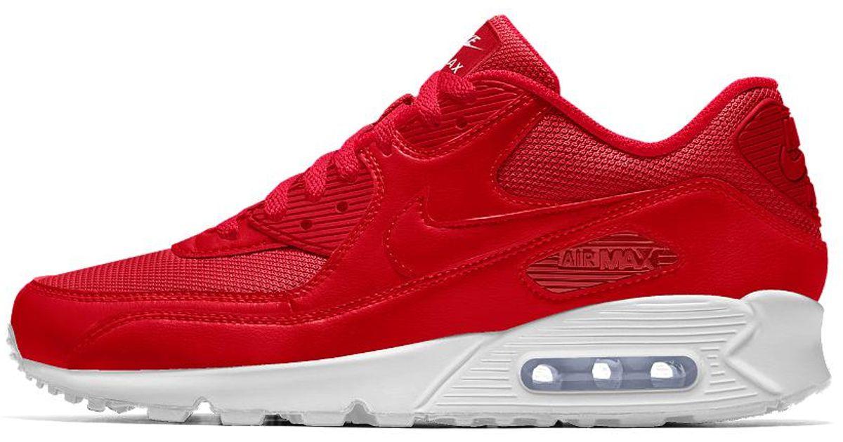 san francisco 50cbe e90d9 Lyst - Nike Air Max 90 Id Women s Shoe in Red