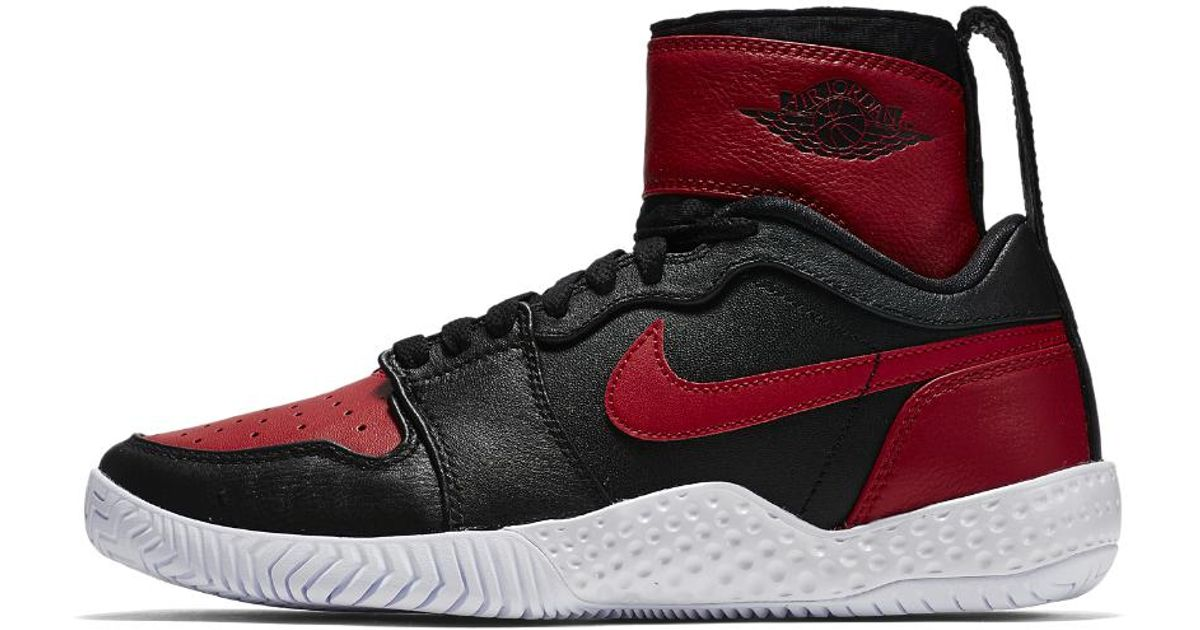 4eda4f84e nike-BlackVarsity-RedVarsity-Red-Court-Flare-23-Womens-Tennis-Shoe.jpeg