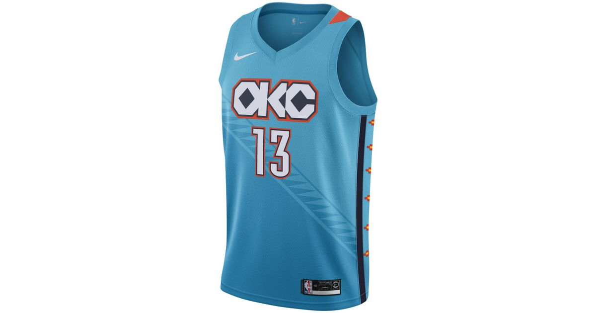 98f5808f71f Nike Russell Westbrook City Edition Swingman (oklahoma City Thunder) Nba  Connected Jersey in Blue for Men - Save 30% - Lyst