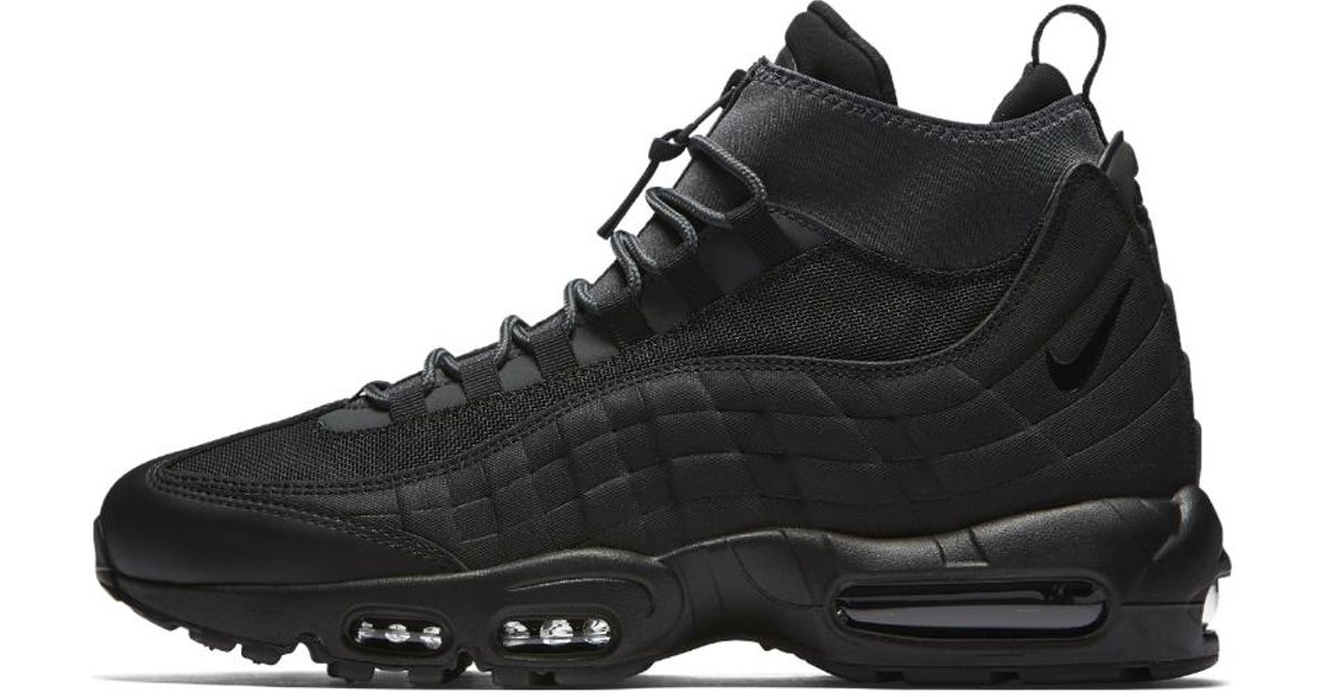 7bdfa47cc5ed ... netherlands lyst nike air max 95 sneakerboot mens boot in black for me  f23d1 70aaf