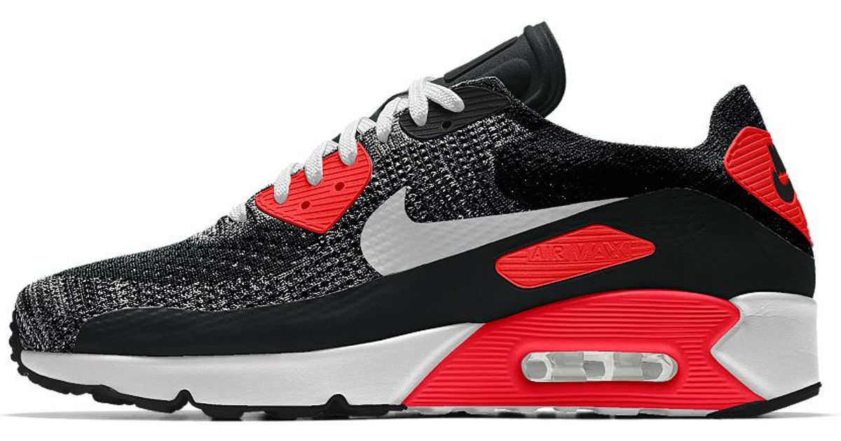 764cc30830a3 ... official lyst nike air max 90 ultra 2.0 flyknit id mens shoe in red for  men