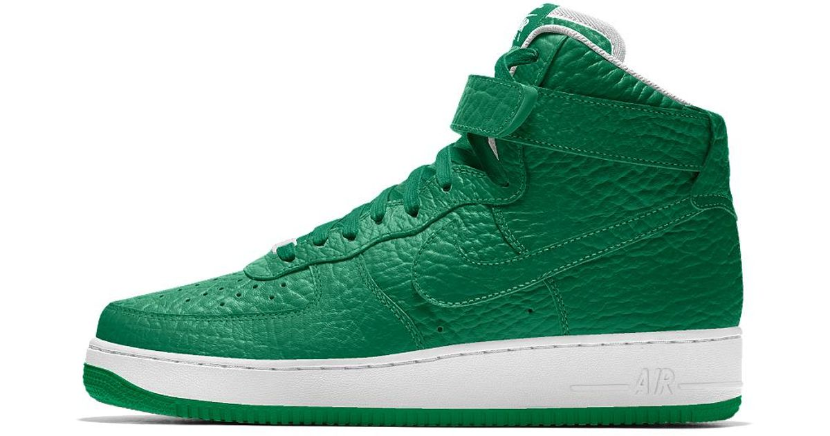 lowest price bd793 11f7e Nike Air Force 1 High Premium Id (boston Celtics) Men's Shoe in Green for  Men - Lyst