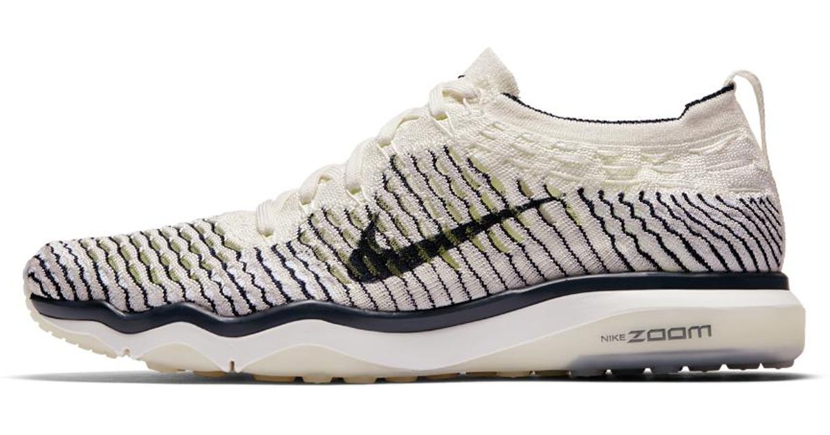 Lyst - Nike Air Zoom Fearless Flyknit Indigo Women s Training Shoe in White 25b19de92