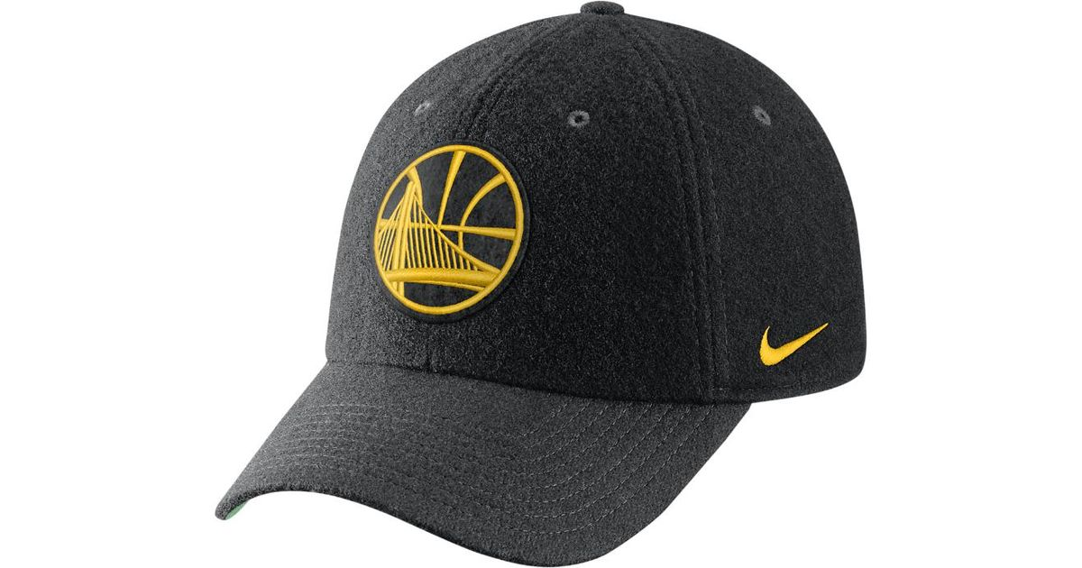 e71764cef9a ... discount code for lyst nike golden state warriors heritage86 nba hat  black in black for men
