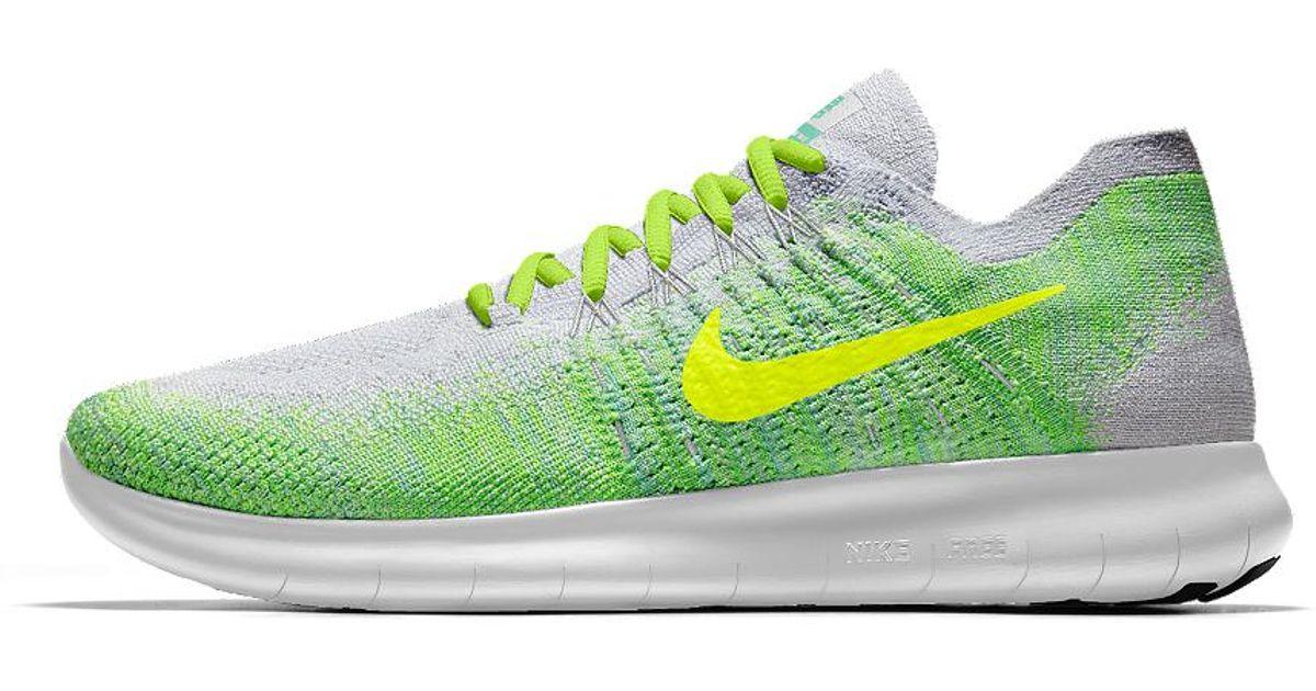 d7bc4e5c71da4 Lyst - Nike Free Rn Flyknit 2017 Id Women s Running Shoe in Green
