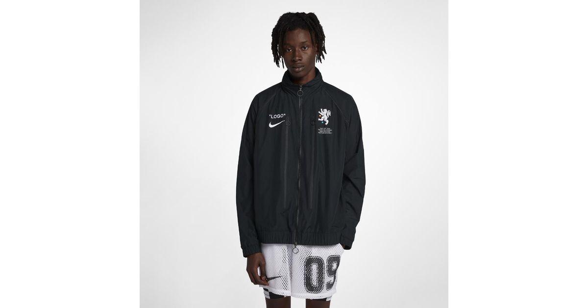 860fa44366ed Lyst - Nike X Off-white Men s Track Jacket in Black for Men