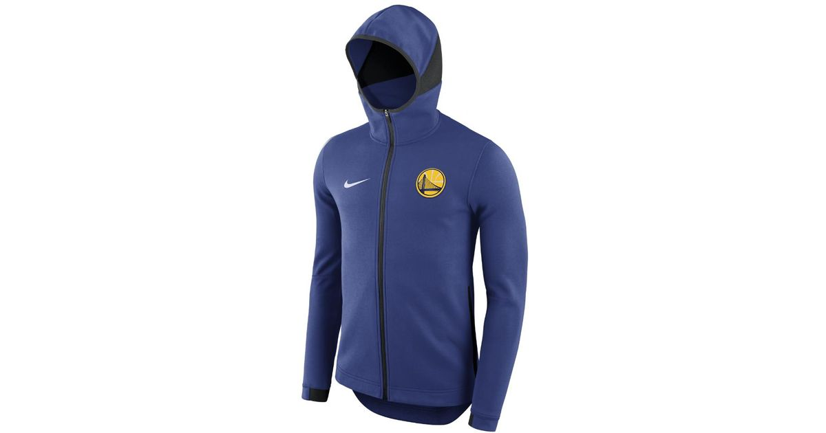10f89fd3314 Lyst - Nike Golden State Warriors Dry Showtime Men s Nba Hoodie in Blue for  Men