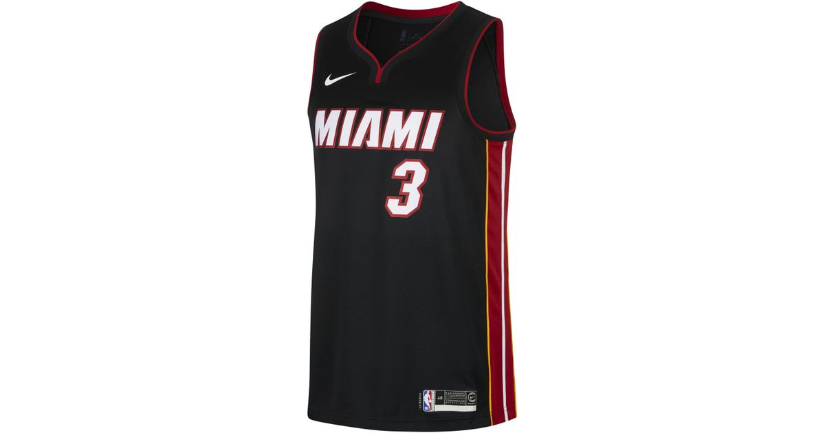 690e5354ed3 ... australia nike dwyane wade icon edition swingman miami heat nba  connected jersey in black for men