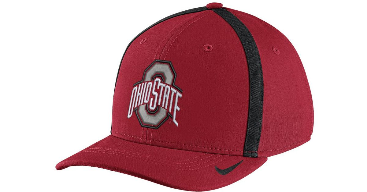 Lyst - Nike College Aerobill Swoosh Flex (ohio State) Fitted Hat in Red for  Men d5d17a98418