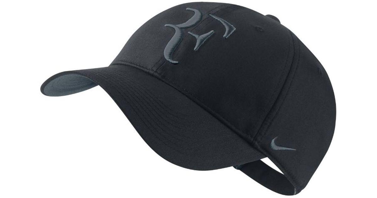 Lyst - Nike Court Roger Federer Premier Hybrid Adjustable Tennis Hat  (black) in Black for Men bf94815b1c6