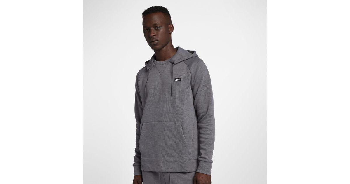 22243848 Nike Sportswear Optic Pullover Hoodie in Gray for Men - Lyst
