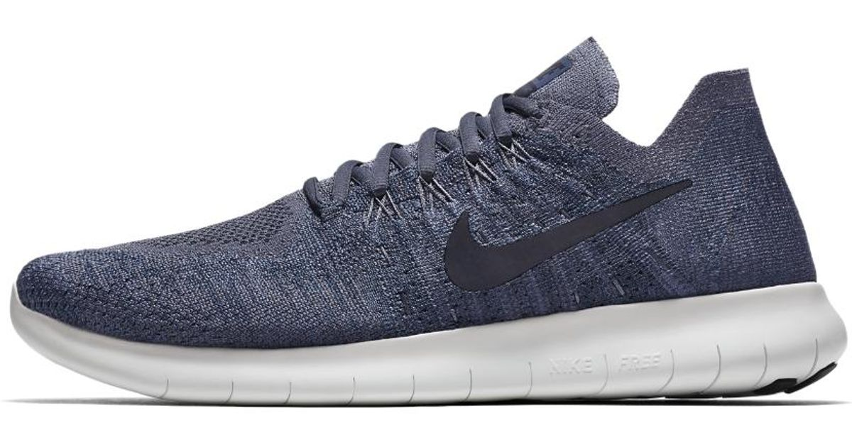 Lyst - Nike Free Rn Flyknit 2017 Men s Running Shoe in Blue for Men 8739f1272