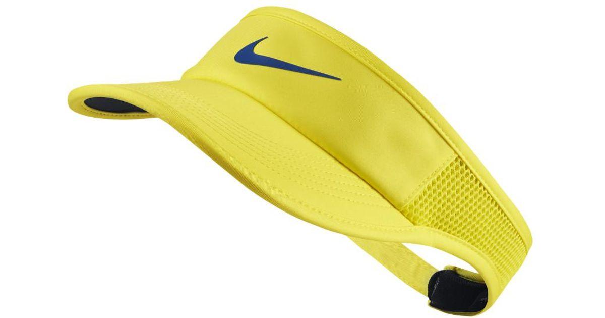 0a26532981a Lyst - Nike Court Aerobill Women s Tennis Visor (yellow) in Yellow