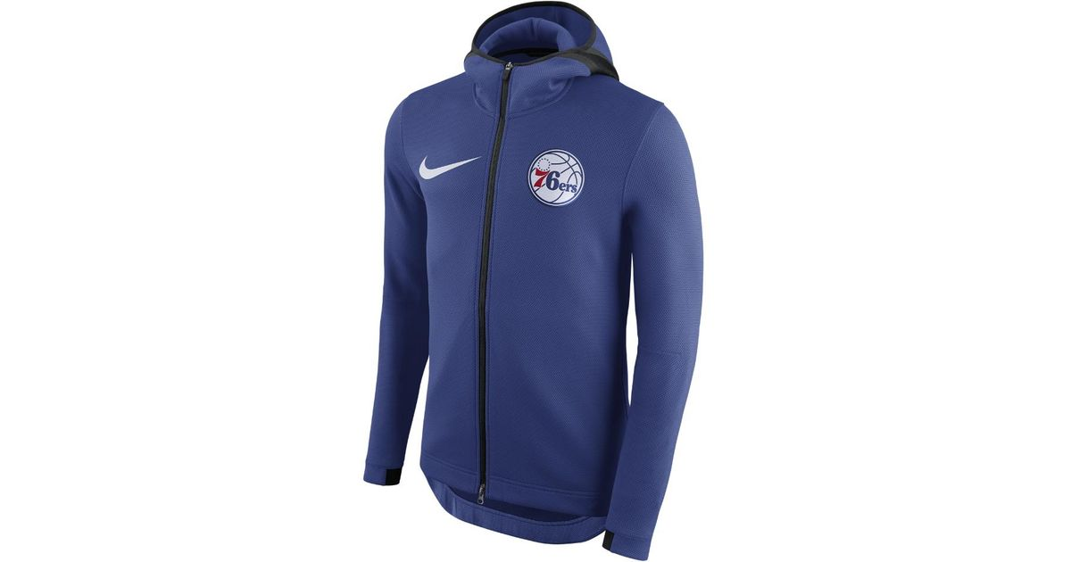 4242075bf3f Nike Philadelphia 76ers Therma Flex Showtime Men s Nba Hoodie in Blue for  Men - Lyst