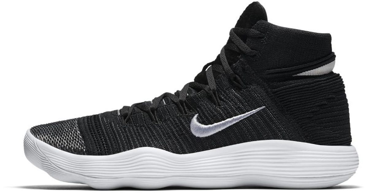 info for 51376 fd6a7 080e1 32227  authentic lyst nike react hyperdunk 2017 flyknit mens  basketball shoe in black for men 2bea9 fe3c9