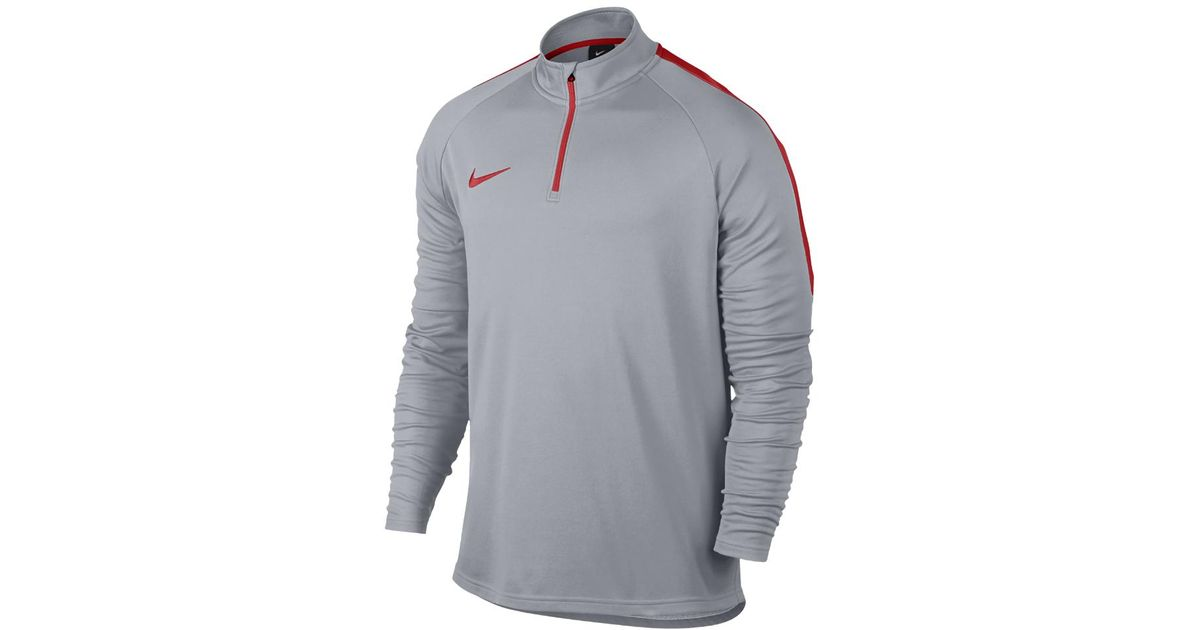8a0100a33aec Lyst - Nike Dri-fit Academy Men s 1 4 Zip Soccer Drill Top in Gray for Men