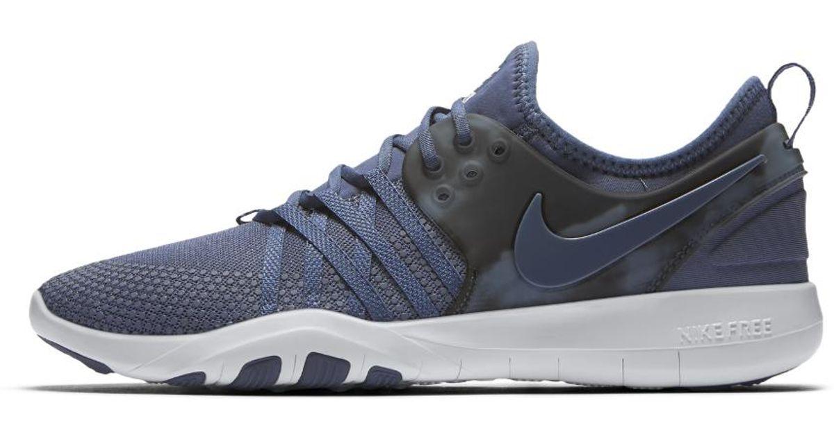 93adb4ae2dc3 Lyst - Nike Free Tr 7 Amp Women s Training Shoe in Blue