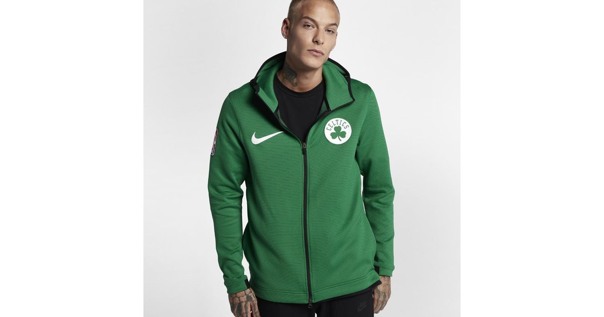 Lyst - Nike Boston Celtics Therma Flex Showtime Hoodie in Green for Men e8ce5800d