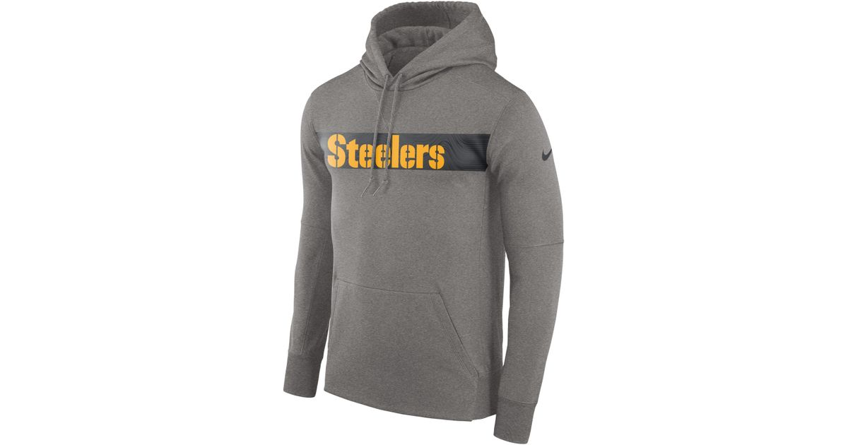 d3ae1b4ddfc8 Nike Dri-fit Therma (nfl Steelers) Pullover Hoodie in Gray for Men - Lyst